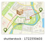 drone delivery above the flat... | Shutterstock .eps vector #1722550603