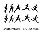 woman and man run cycle...   Shutterstock . vector #1722556003