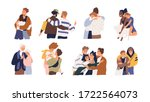 set of different cartoon people ... | Shutterstock .eps vector #1722564073