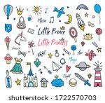 prince princess cute doodle... | Shutterstock .eps vector #1722570703