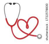 stethoscope in shape of heart ... | Shutterstock .eps vector #1722578830