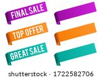 sale and discount price banner... | Shutterstock . vector #1722582706