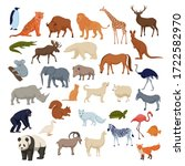 wild home pets set. wild... | Shutterstock .eps vector #1722582970