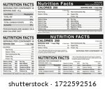 nutrition facts table indicator ... | Shutterstock .eps vector #1722592516