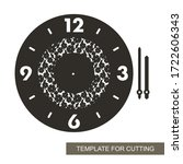 round wall clock with an... | Shutterstock .eps vector #1722606343