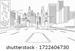 silhouette architecture new... | Shutterstock .eps vector #1722606730