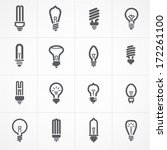 light bulbs. bulb icon set | Shutterstock .eps vector #172261100