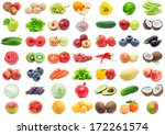 collection of various fruits... | Shutterstock . vector #172261574