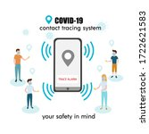covid 19 contact tracing system ... | Shutterstock .eps vector #1722621583