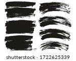 flat paint brush thin long  ... | Shutterstock .eps vector #1722625339