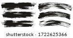flat paint brush thin long  ...   Shutterstock .eps vector #1722625366
