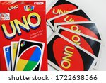 uno board game playing cards...   Shutterstock . vector #1722638566
