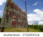 Private Property  Trespassers...