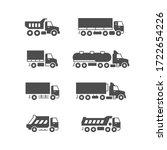 set glyph icons of trucks   Shutterstock .eps vector #1722654226