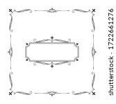 hand drawn elegant squared... | Shutterstock .eps vector #1722661276