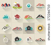 real estate web icons set and... | Shutterstock .eps vector #172266710