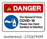 danger the spread of virus... | Shutterstock .eps vector #1722679399