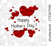 creative happy mother's day... | Shutterstock .eps vector #172267940