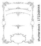 cartouches set illustration | Shutterstock . vector #172268444