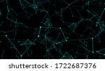 digital plexus of lines and... | Shutterstock .eps vector #1722687376
