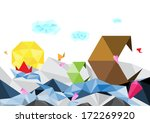 vector abstract art polygon... | Shutterstock .eps vector #172269920
