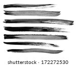 collection of watercolor brush... | Shutterstock . vector #172272530