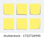 realistic yellow sticky note... | Shutterstock .eps vector #1722726940
