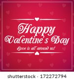 valentine's day card with... | Shutterstock . vector #172272794