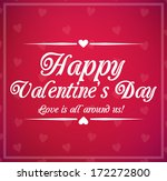 valentine's day card with... | Shutterstock .eps vector #172272800