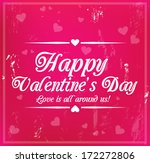 valentine's day card with... | Shutterstock .eps vector #172272806