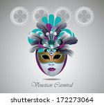 venetian carnival mask with... | Shutterstock .eps vector #172273064