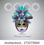 venetian carnival mask with... | Shutterstock .eps vector #172273064