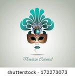 venetian carnival mask   Shutterstock .eps vector #172273073