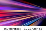 colorful light trails with... | Shutterstock .eps vector #1722735463