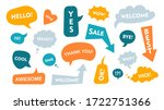 speech bubble with text flat... | Shutterstock .eps vector #1722751366