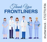thank you frontliners concept.... | Shutterstock .eps vector #1722751936