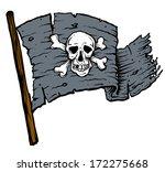 dark black pirate flag with... | Shutterstock .eps vector #172275668