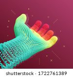 hand open and ready to help.... | Shutterstock .eps vector #1722761389