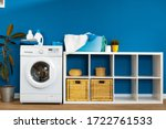 laundry room. close up of... | Shutterstock . vector #1722761533