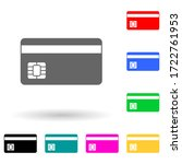 a plastic card multi color...
