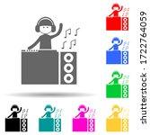dj multi color style icon....