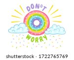 vector illustration of donut... | Shutterstock .eps vector #1722765769