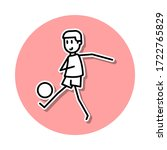 soccer player with ball sticker ...
