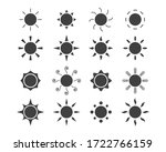 vector set icons of sun in flat ... | Shutterstock .eps vector #1722766159