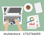hands holding 75  alcohol gel...   Shutterstock .eps vector #1722766690