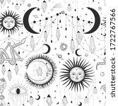 vector illustration set of moon ... | Shutterstock .eps vector #1722767566
