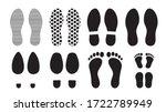 footprints human silhouette ... | Shutterstock .eps vector #1722789949