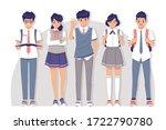 student wearing uniform...   Shutterstock .eps vector #1722790780