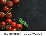 Fresh Tomatoes On A Black...