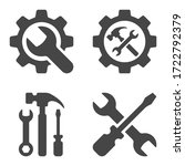 Tool Icon Set In Flat Style...
